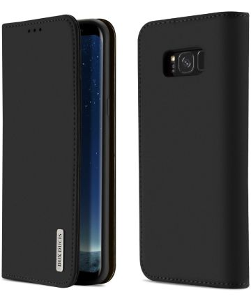 Dux Ducis Luxe Book Case Samsung Galaxy S8 Hoesje Echt Leer Zwart