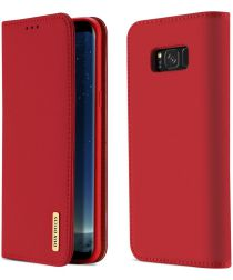 Dux Ducis Luxe Book Case Samsung Galaxy S8 Hoesje Echt Leer Rood