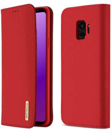 Dux Ducis Luxe Book Case Samsung Galaxy S9 Hoesje Echt Leer Rood