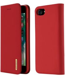 Dux Ducis Luxe Book Case Apple iPhone 8 / 7 Hoesje Echt Leer Rood