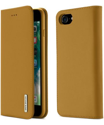 Dux Ducis Luxe Book Case Apple iPhone 8 / 7 / SE 2020 Echt Leer Khaki