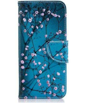 Samsung Galaxy J6 (2018) Lederen Portemonnee Hoesje Pink Flowers