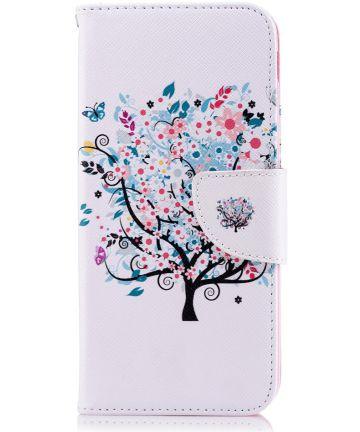 Samsung Galaxy J6 (2018) Lederen Portemonnee Hoesje Tree