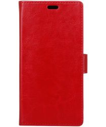 Samsung Galaxy J6 (2018) Crazy Horse Portemonnee Hoesje Rood