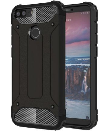 Honor 7A / Huawei Y6 (2018) Hybride Hoesje Zwart