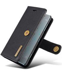 Sony Xperia XZ2 Compact Leren Portemonnee Hoesje Zwart