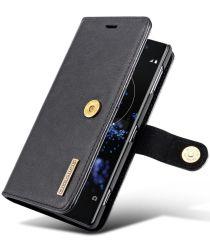 Sony Xperia XZ2 Leren Portemonnee Hoesje Zwart