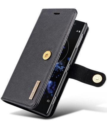 Sony Xperia XZ2 Leren Portemonnee Hoesje Zwart Hoesjes