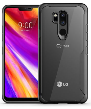 LG G7 ThinQ Hybride TPU Hoesje Zwart Hoesjes