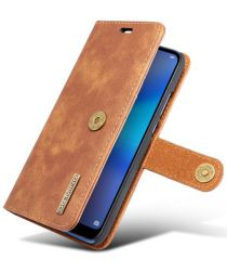 Huawei P20 Lite Leren Portemonnee Hoesje Bruin