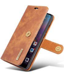 Huawei P20 Leren Portemonnee Hoesje Bruin
