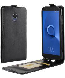 Alcatel 1X Flip Case Zwart