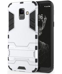 Samsung Galaxy A6 Plus Hybride Stand Hoesje Zilver
