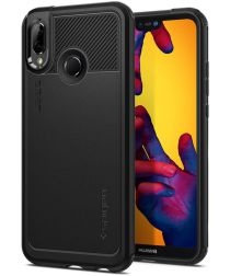 Spigen Marked Amor Case Huawei P20 Lite Zwart