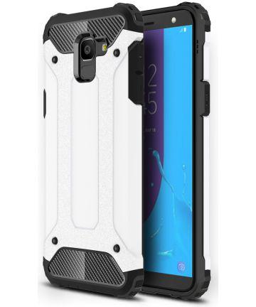 Samsung Galaxy J6 (2018) Hybride Hoesje Wit Hoesjes