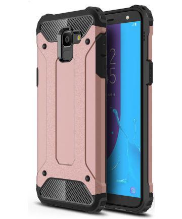 Samsung Galaxy J6 (2018) Hybride Hoesje Rose Gold
