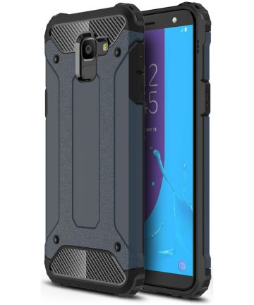 Samsung Galaxy J6 (2018) Hybride Hoesje Donker Blauw