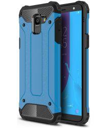 Samsung Galaxy J6 (2018) Hybride Hoesje Blauw