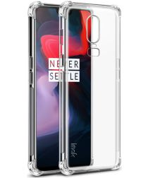 OnePlus 6 TPU Hoesje + Screen Protector Transparant