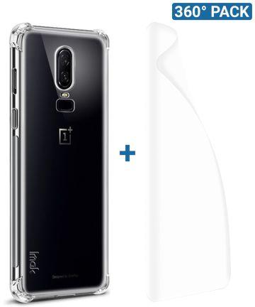IMAK OnePlus 6 Hoesje Flexibel TPU met Screenprotector Transparant Hoesjes