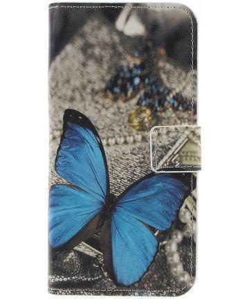 Samsung Galaxy J6 (2018) Portemonnee Hoesje Blauwe Vlinder