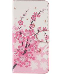 Samsung Galaxy A6 Plus Portemonnee Hoesje Blossom