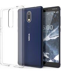 Nokia 5.1 Hoesje Dun TPU Transparant