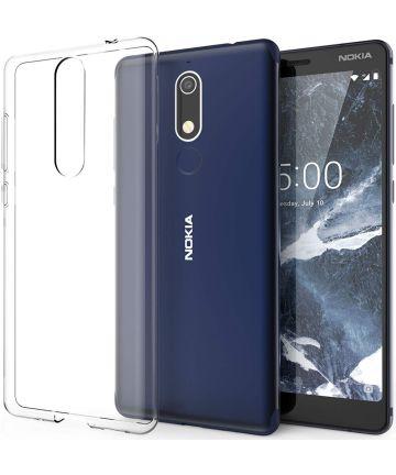 Nokia 5.1 Hoesje Dun TPU Transparant Hoesjes