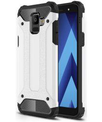 Samsung Galaxy A6 Hybride Hoesje Wit