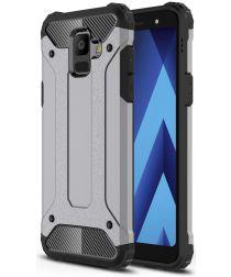 Samsung Galaxy A6 Hybride Hoesje Grijs