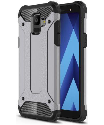 Samsung Galaxy A6 Hybride Hoesje Grijs Hoesjes