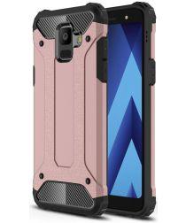 Samsung Galaxy A6 Hybride Hoesje Roze Goud