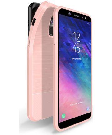 Dux Ducis Mojo Geborsteld TPU Hoesje Samsung Galaxy A6 Roze
