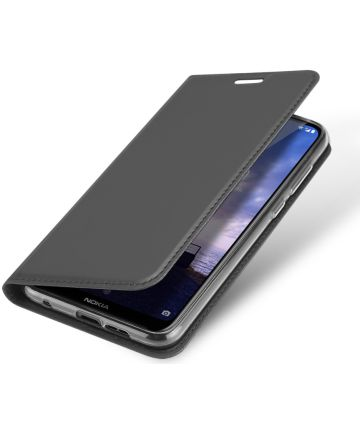 Dux Ducis Premium Book Case Nokia 6.1 Plus Hoesje Zwart