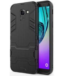 Samsung Galaxy J6 (2018) Hybride Stand Hoesje Zwart