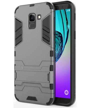 Samsung Galaxy J6 (2018) Hybride Stand Hoesje Grijs