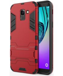 Samsung Galaxy J6 (2018) Hybride Stand Hoesje Rood