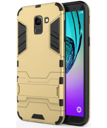 Samsung Galaxy J6 (2018) Hybride Stand Hoesje Goud