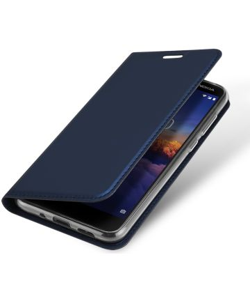 Dux Ducis Premium Book Case Nokia 3.1 Hoesje met Kaarthouder Blauw