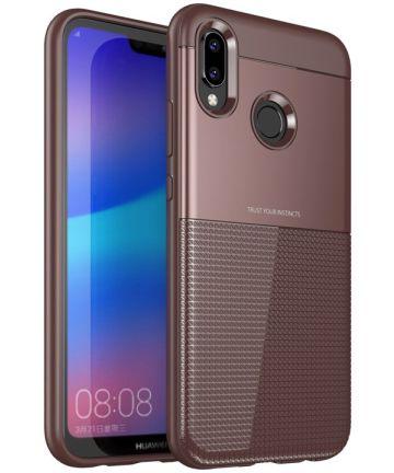 Huawei P20 Lite Schild TPU Hoesje Rood