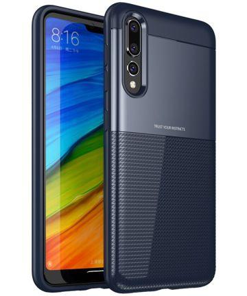 Huawei P20 Pro Schild TPU Hoesje Blauw Hoesjes