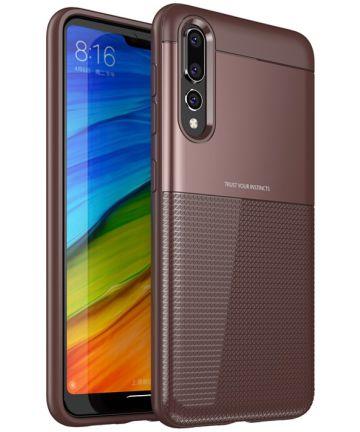Huawei P20 Pro Schild TPU Hoesje Rood Hoesjes