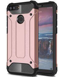 Honor 7A / Huawei Y6 (2018) Hybride Hoesje Roze Goud