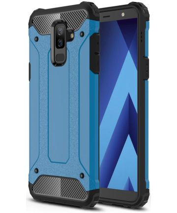 Samsung Galaxy A6 Plus Hybride Hoesje Blauw