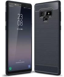 Samsung Galaxy Note 9 Geborsteld TPU Hoesje Blauw