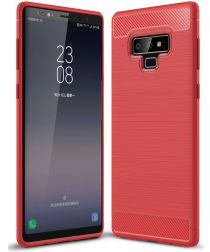 Samsung Galaxy Note 9 Geborsteld TPU Hoesje Rood