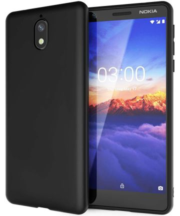 Nokia 3.1 TPU Hoesje Zwart Hoesjes
