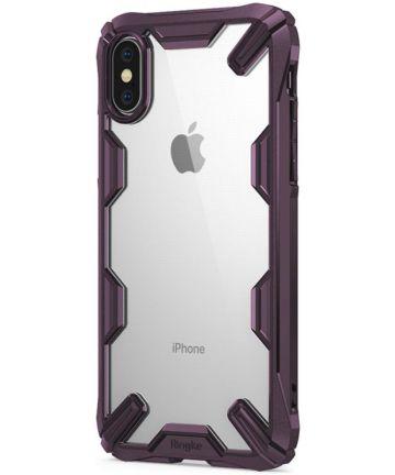 Ringke Fusion X Apple iPhone X Hoesje Doorzichtig Paars