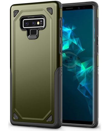 Samsung Galaxy Note 9 Robuust Hybride Hoesje Groen