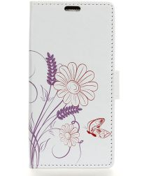 Nokia 2.1 Portemonnee Hoesje met Bloem Print